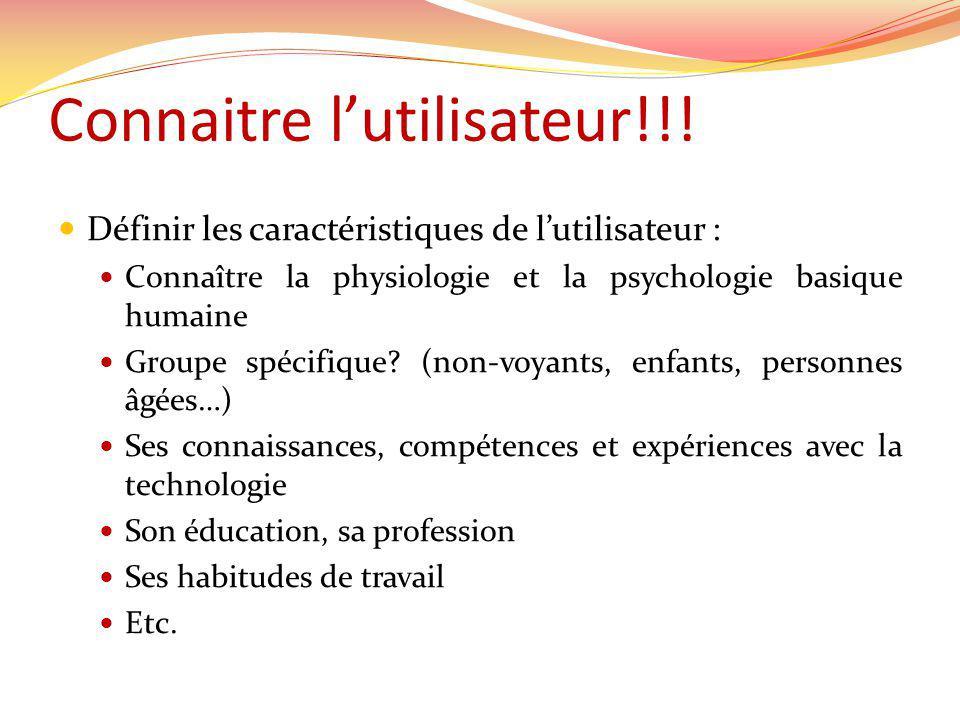 Connaitre lutilisateur!!.