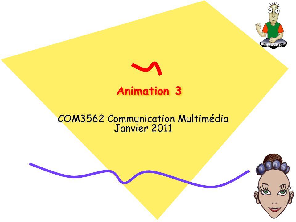 Animation 3 COM3562 Communication Multimédia Janvier 2011