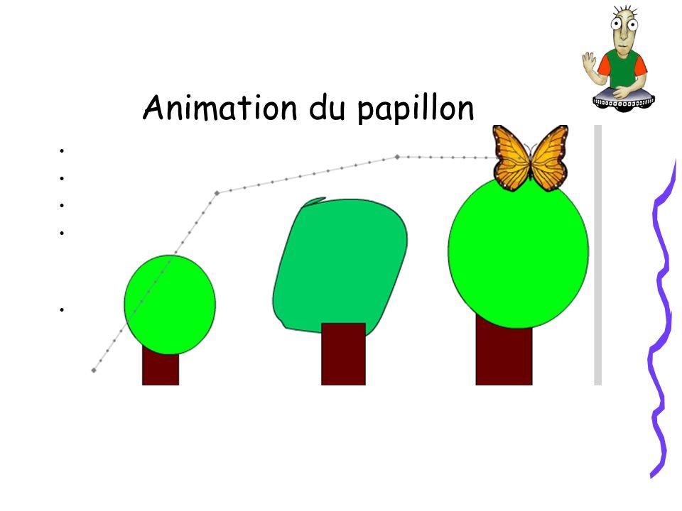 Animation du papillon Dans Illustrator cherchez le papillon dans les patrons.