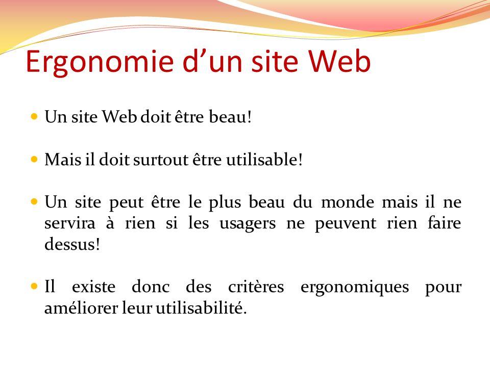 Design des pages Web