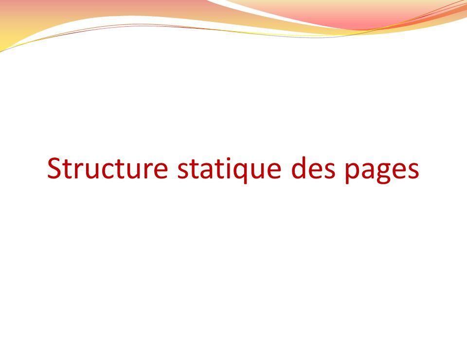 Structure statique des pages