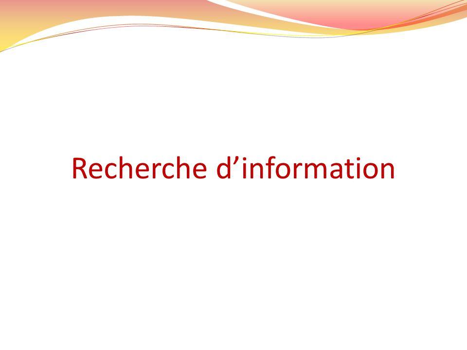 Recherche dinformation