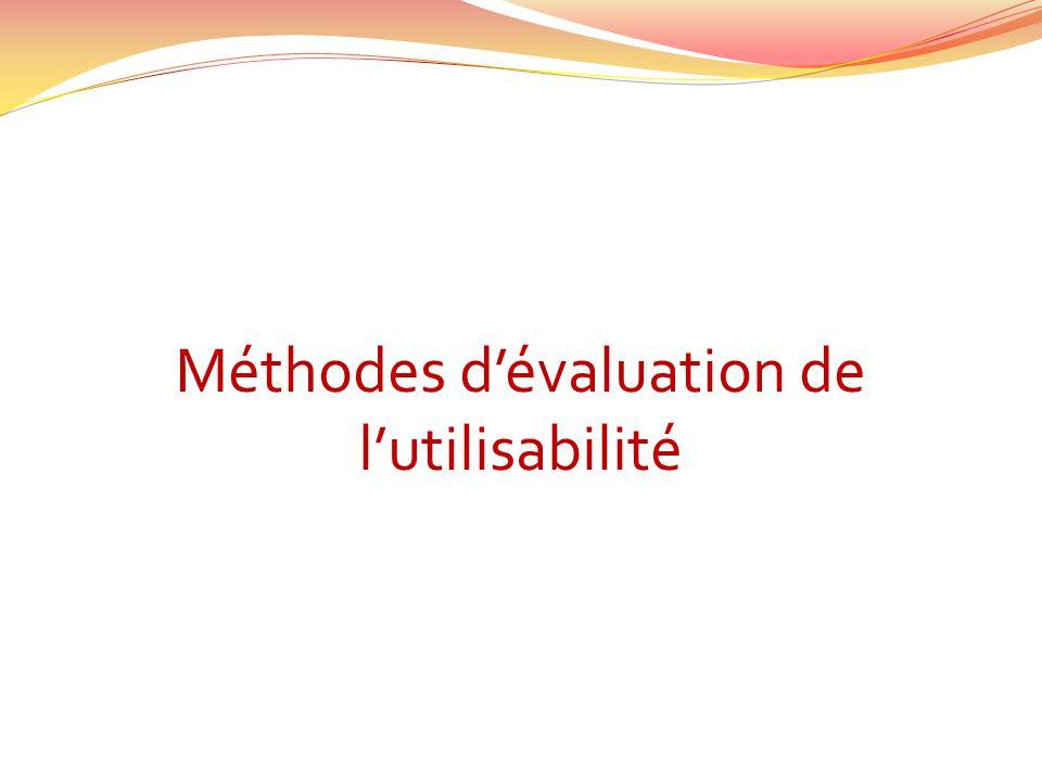 Méthodes dévaluation de lutilisabilité