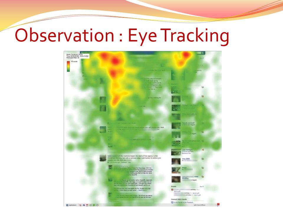 Observation : Eye Tracking