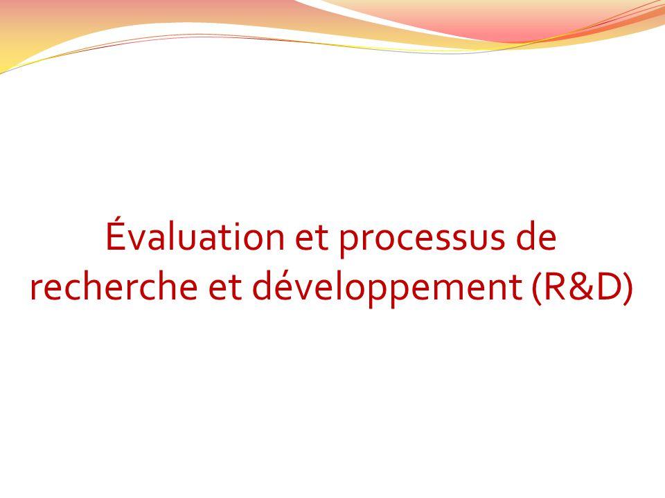 Évaluation et processus de recherche et développement (R&D)