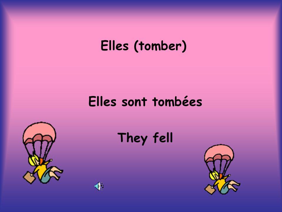 Elles (tomber) Elles sont tombées They fell