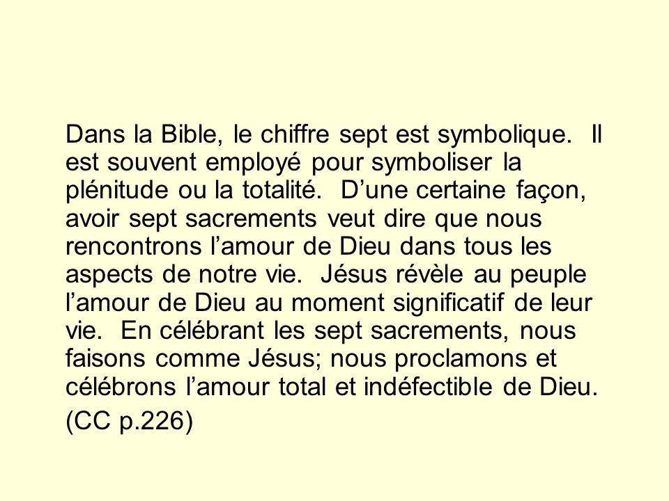 Dans la Bible, le chiffre sept est symbolique.