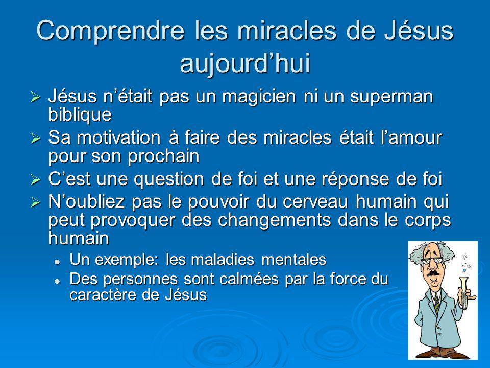 Comprendre les miracles de Jésus aujourdhui Jésus nétait pas un magicien ni un superman biblique Jésus nétait pas un magicien ni un superman biblique