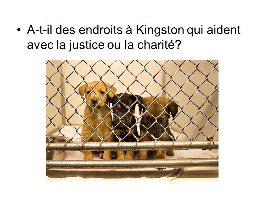 A-t-il des endroits à Kingston qui aident avec la justice ou la charité