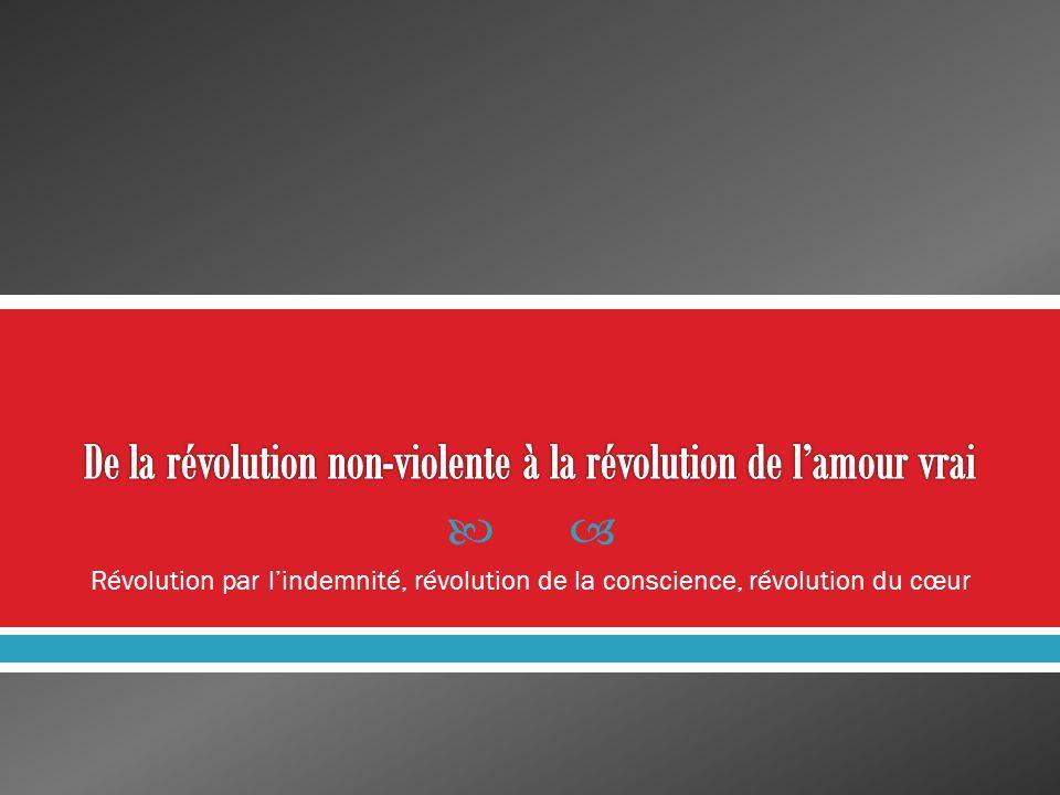 Révolution par lindemnité, révolution de la conscience, révolution du cœur