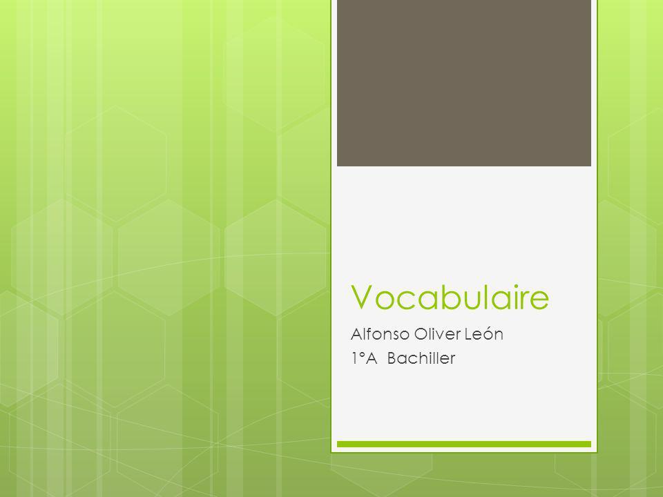Vocabulaire Alfonso Oliver León 1ºA Bachiller