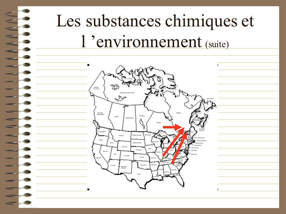 Les substances chimiques et l environnement (suite) Ces combustions proviennent… des industries, de la combustion des huiles à chauffage, des automobi