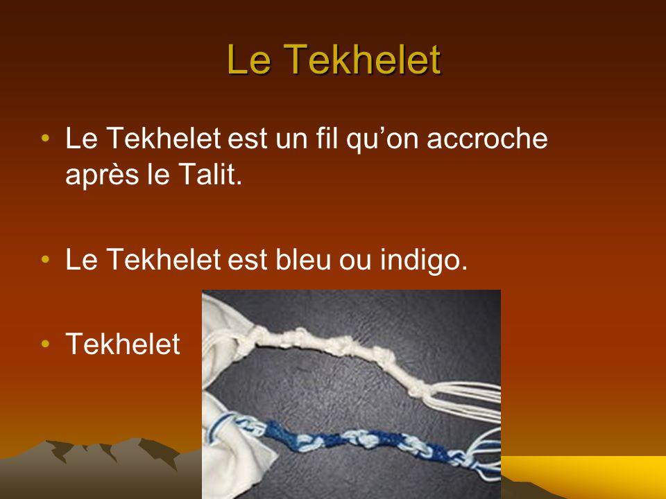 Le Talit Le Talit est un châle porté lors de la prière. Le Talit est blanc.