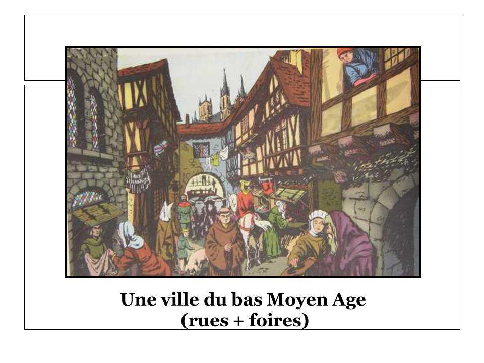 Une ville du bas Moyen Age (rues + foires)
