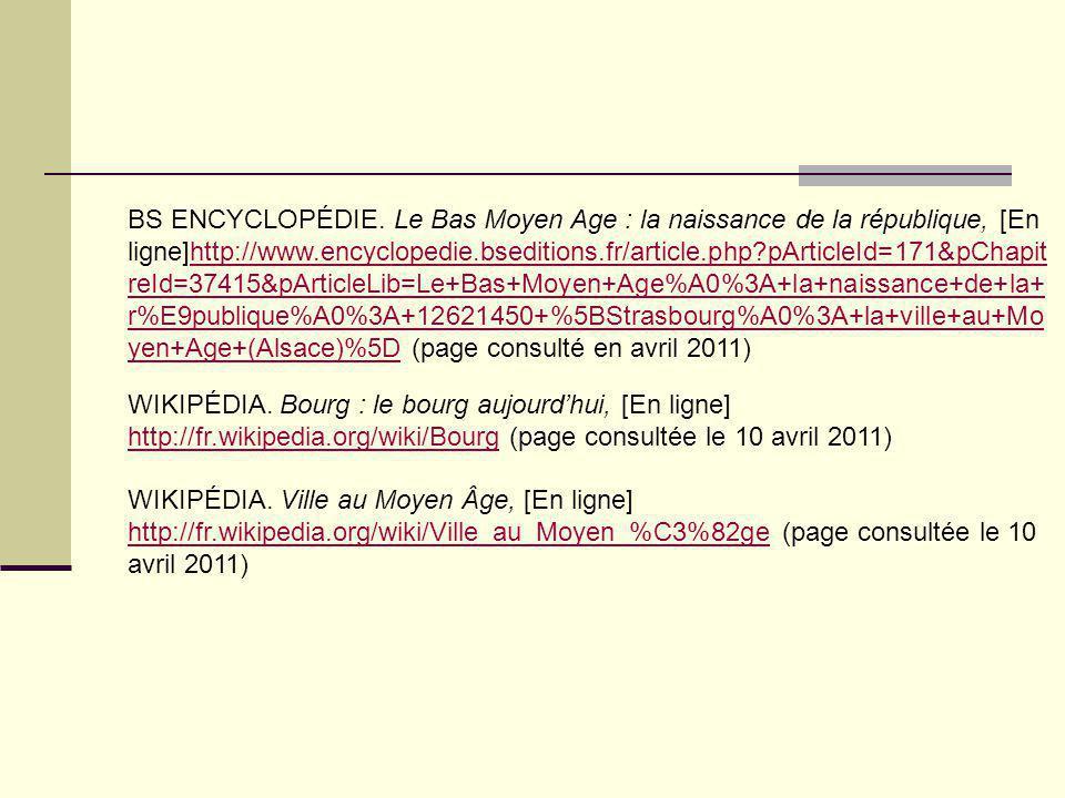 BS ENCYCLOPÉDIE. Le Bas Moyen Age : la naissance de la république, [En ligne]http://www.encyclopedie.bseditions.fr/article.php?pArticleId=171&pChapit