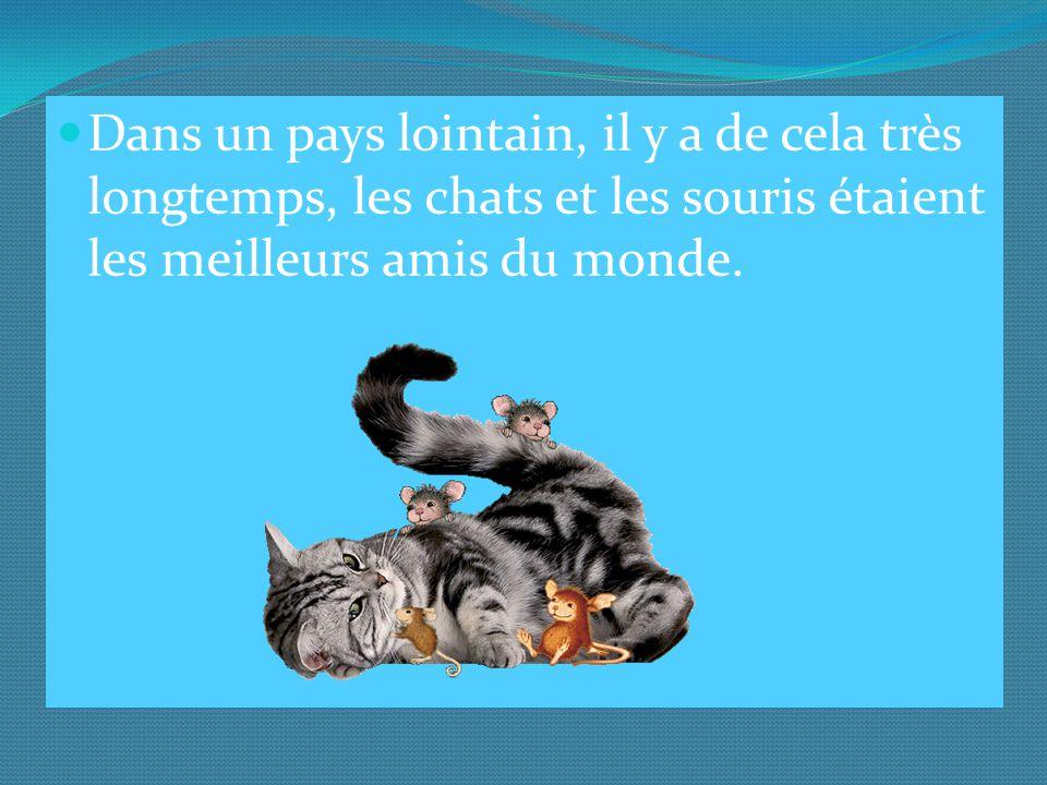 Dans un pays lointain, il y a de cela très longtemps, les chats et les souris étaient les meilleurs amis du monde.