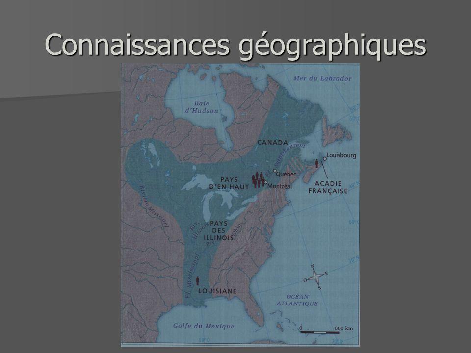 Connaissances géographiques