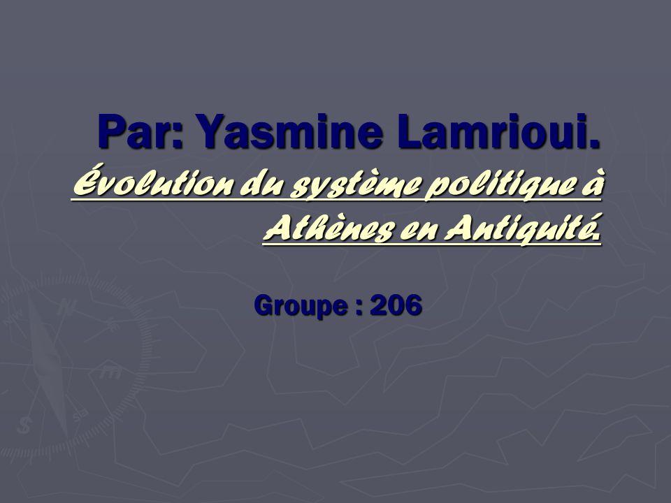 Évolution du système politique à Athène en antiquité.