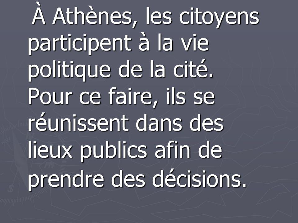 Les citoyens absents Plusieurs citoyens ne se présentent pas bien, ou bien arrivent en retard aux assemblées de l Eccl é sia.