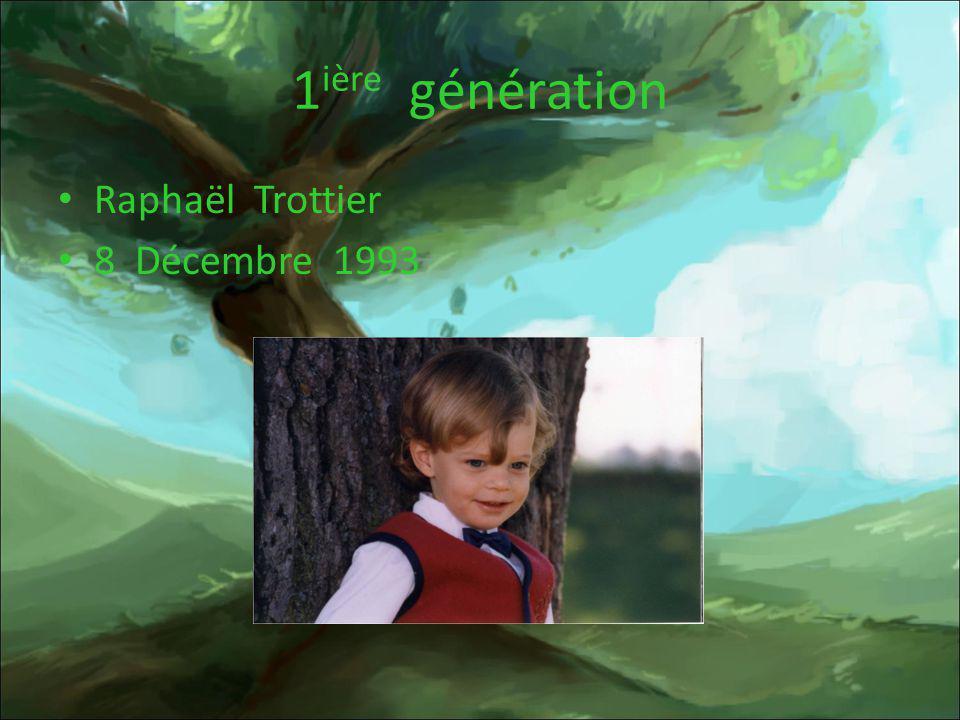 1 ière génération Raphaël Trottier 8 Décembre 1993