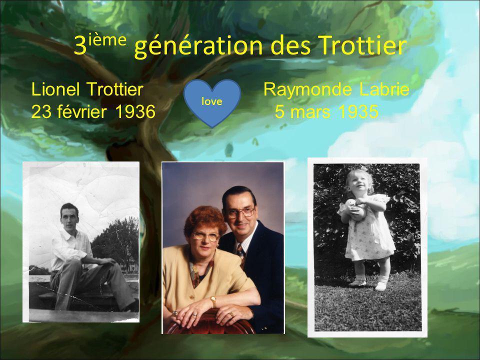 4 ième génération Parent Parents de mon grand-père Adrien Parent Éléodore Parent Asthène Parent 1891-1949 1891-1966