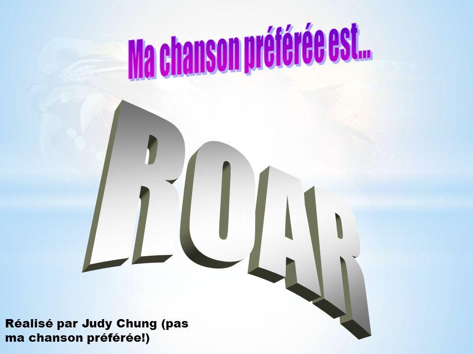 Réalisé par Judy Chung (pas ma chanson préférée!)