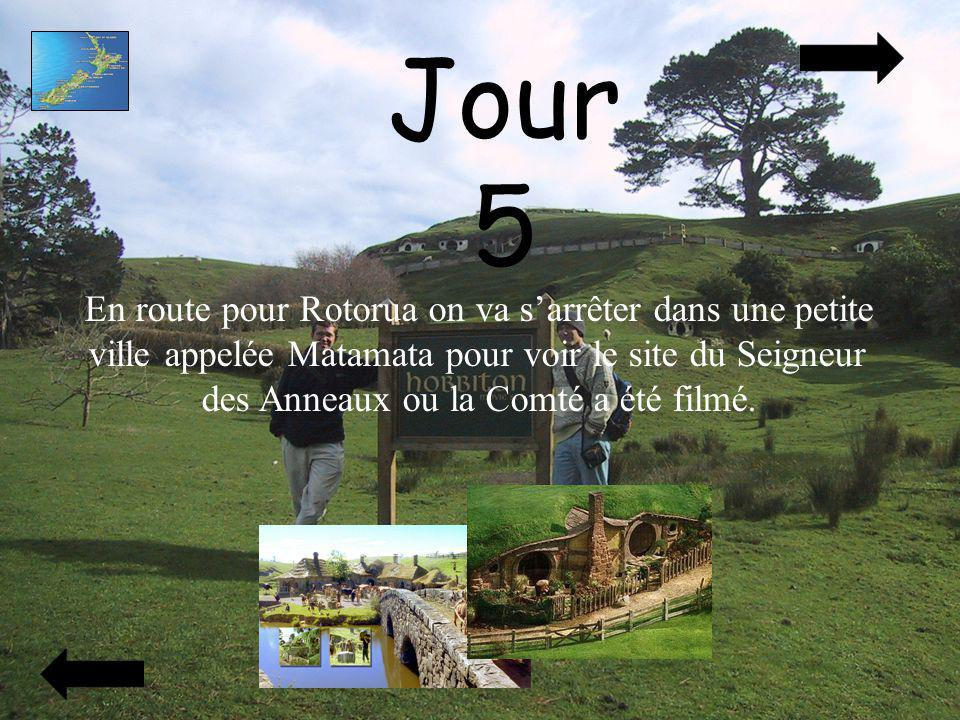 Jour 5 En route pour Rotorua on va sarrêter dans une petite ville appelée Matamata pour voir le site du Seigneur des Anneaux ou la Comté a été filmé.