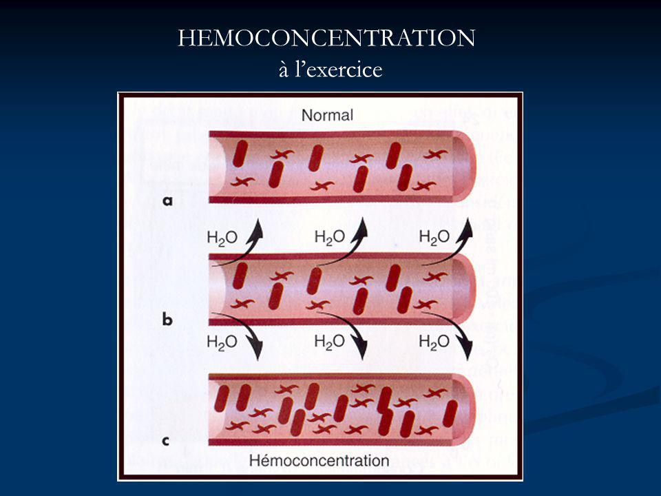 HEMOCONCENTRATION à lexercice