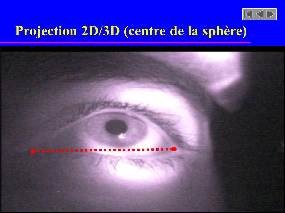 Projection 2D/3D (centre de la sphère)