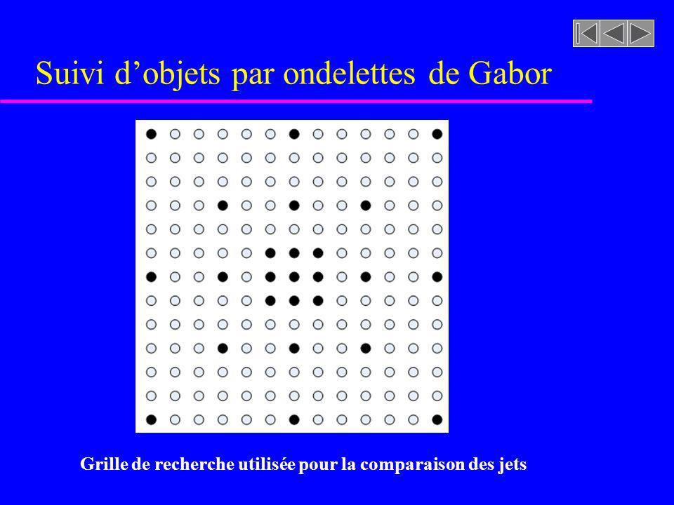 Suivi dobjets par ondelettes de Gabor Grille de recherche utilisée pour la comparaison des jets