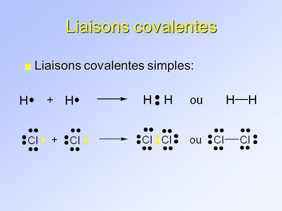 Liaisons covalentes