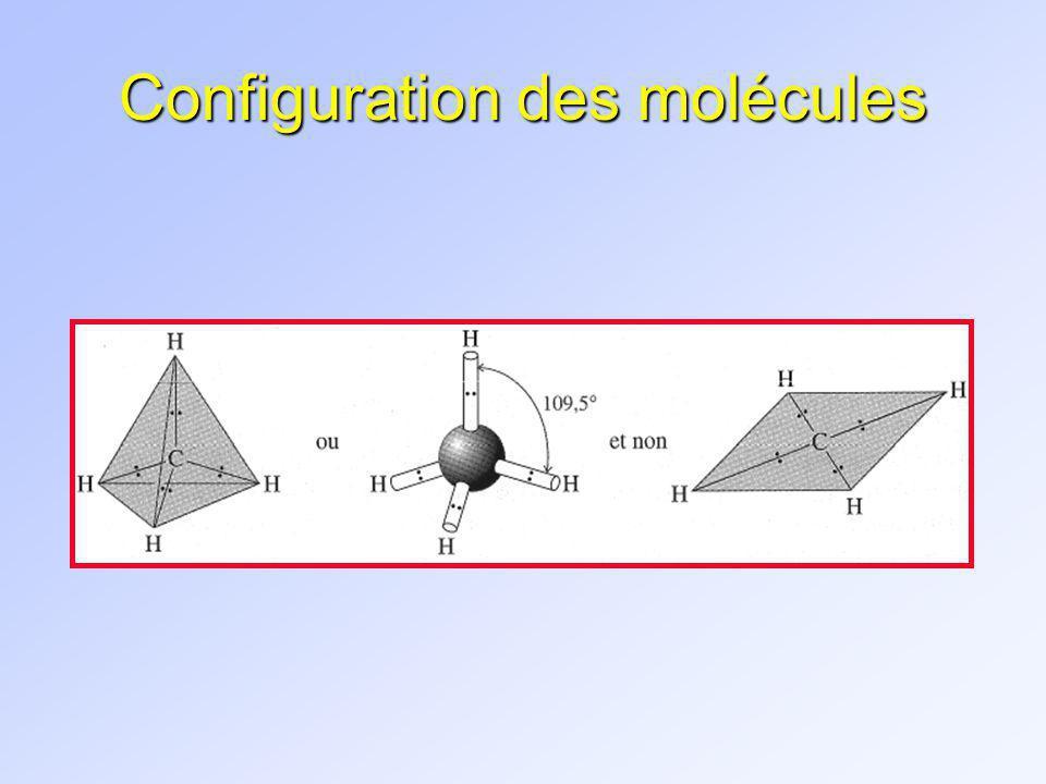1.4 STRUCTURES DE LEWIS n RÈGLE 1: Dessiner le squelette de la molécule n RÈGLE 2: Compter le nombre délectrons de valence disponibles n RÈGLE 3: Représenter chacune des liaisons covalentes par deux électrons appariés, en veillant à attribuer au plus grand nombre datomes possible un entourage électronique réalisant loctet (sauf H => 2 é) n RÈGLE 4: Attribuer la charge formelle de chaque atome au sein de la molécule Gilbert N.