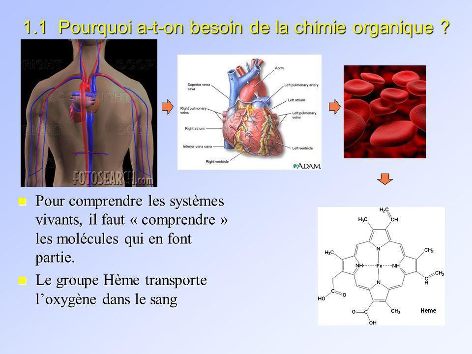 1.1 Pourquoi a-t-on besoin de la chimie organique .