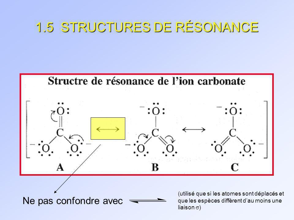 STRUCTURES DE RÉSONANCE (suite)