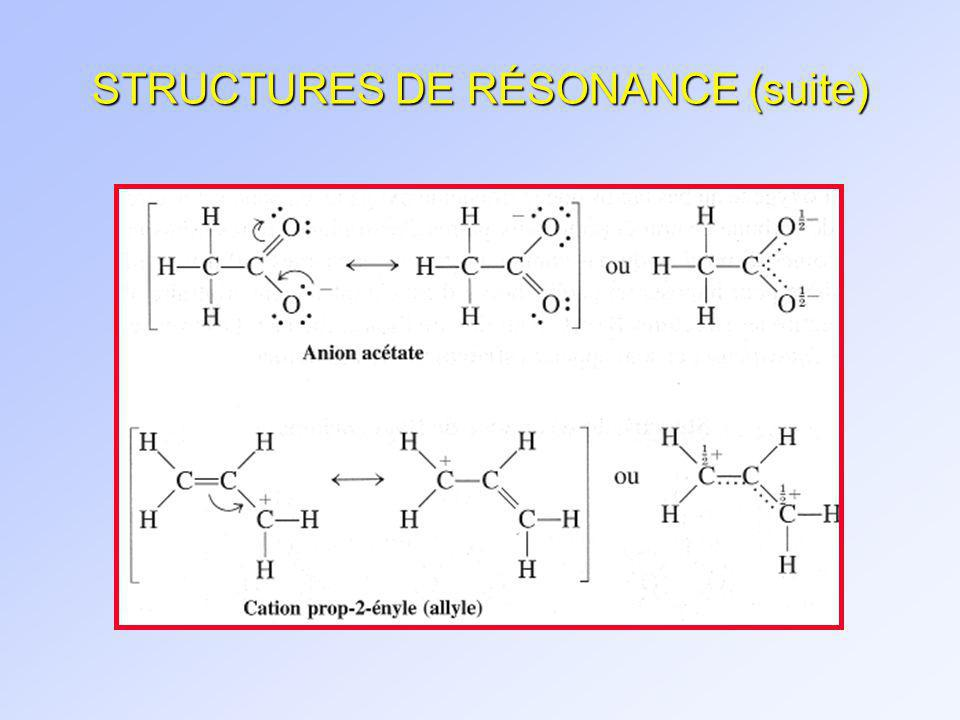 STRUCTURES DE RÉSONANCE (suite)