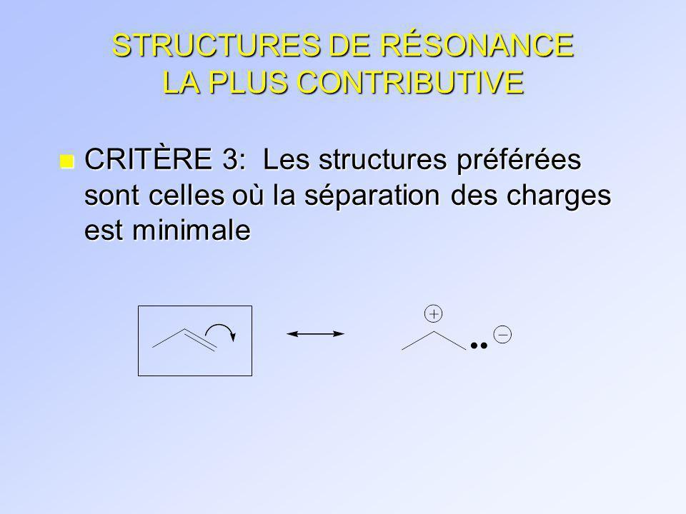 STRUCTURES DE RÉSONANCE Les molécules neutres ont aussi des structures de résonance