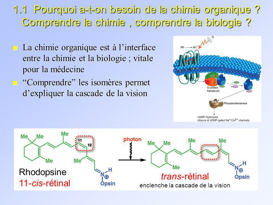 1.1 LÉTENDUE DE LA CHIMIE ORGANIQUE: TOUR DHORIZON n Chimie organique sintéresse à la façon dont ces atomes sont liés pour former des structures moléculaires