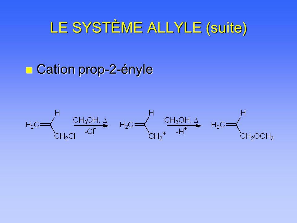 LE SYSTÈME ALLYLE (suite) n Cation prop-2-ényle