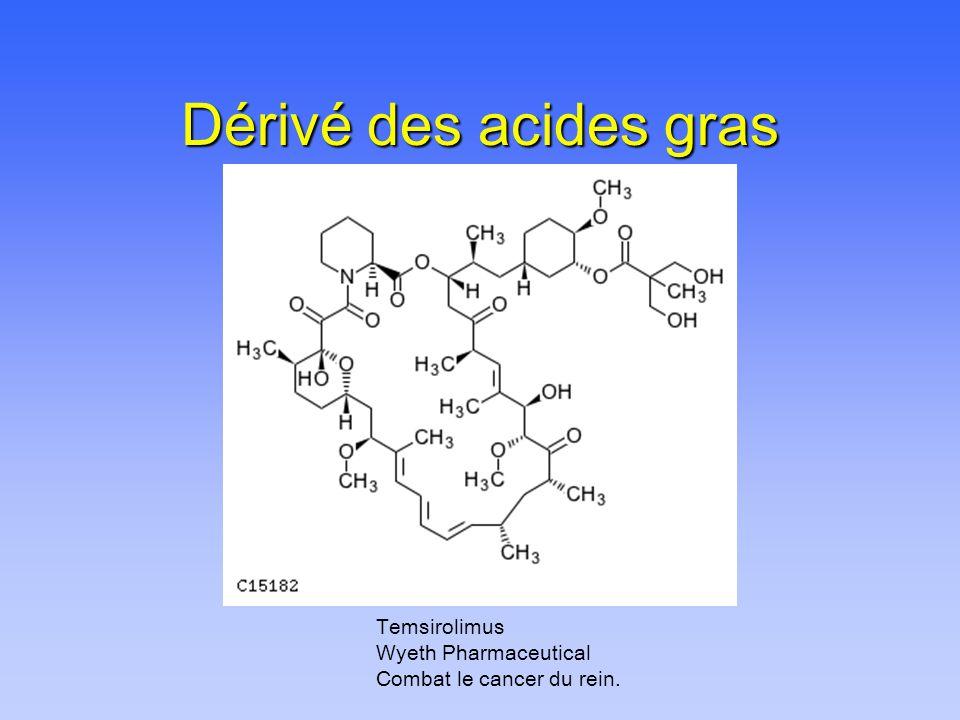 Dérivé des acides gras Temsirolimus Wyeth Pharmaceutical Combat le cancer du rein.