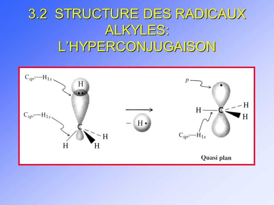 3.2 STRUCTURE DES RADICAUX ALKYLES: LHYPERCONJUGAISON