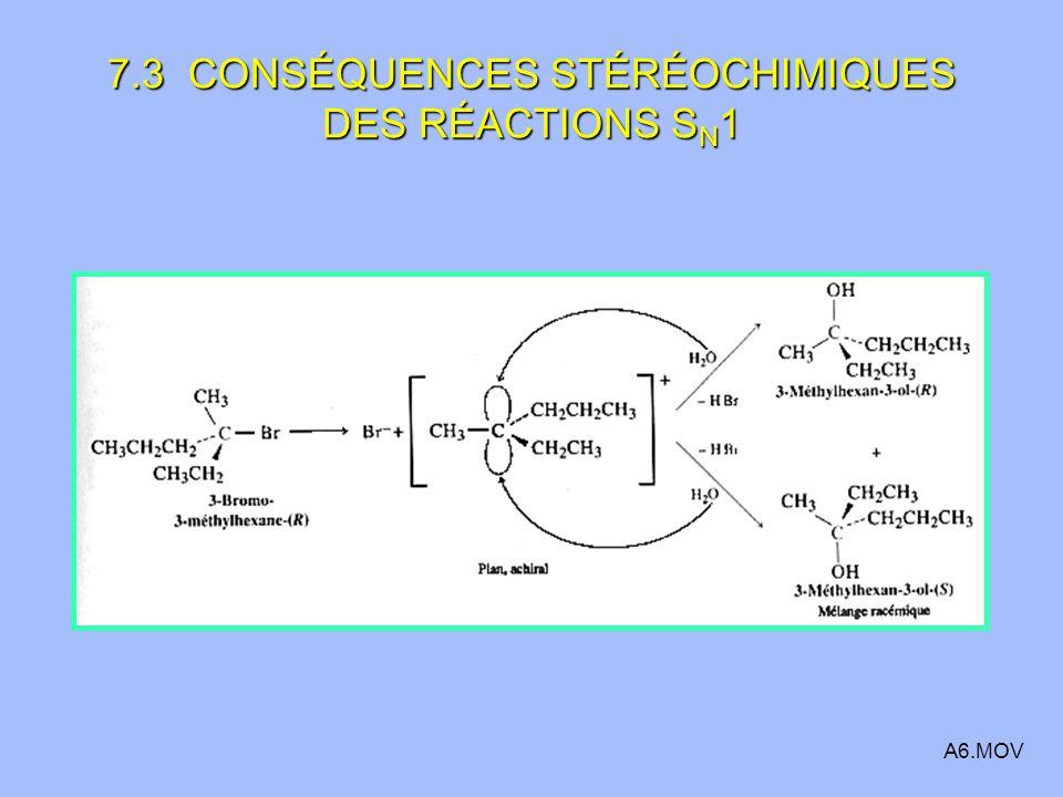 7.3 CONSÉQUENCES STÉRÉOCHIMIQUES DES RÉACTIONS S N 1 A6.MOV