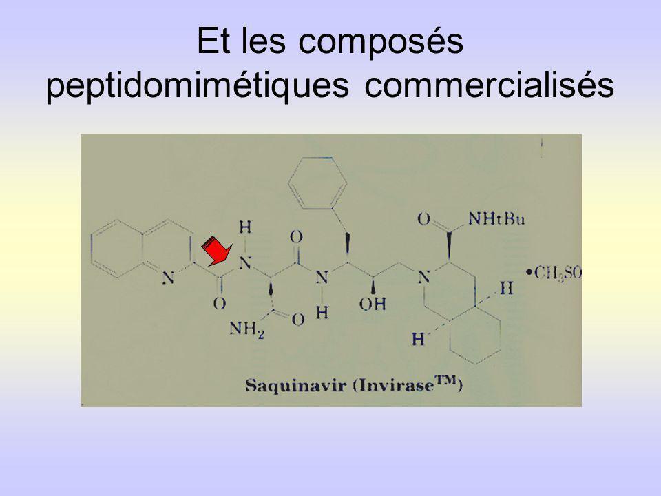Et les composés peptidomimétiques commercialisés