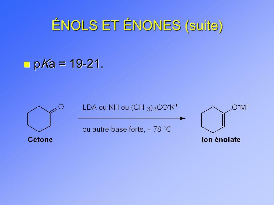 ÉNOLS ET ÉNONES (suite) n pKa = 19-21.