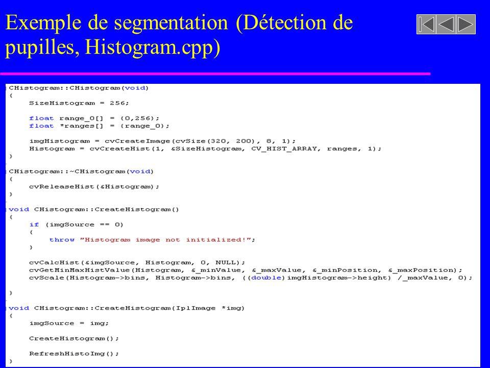 imageasegmenter.rast Exemple de segmentation (Détection de pupilles, Histogram.h)