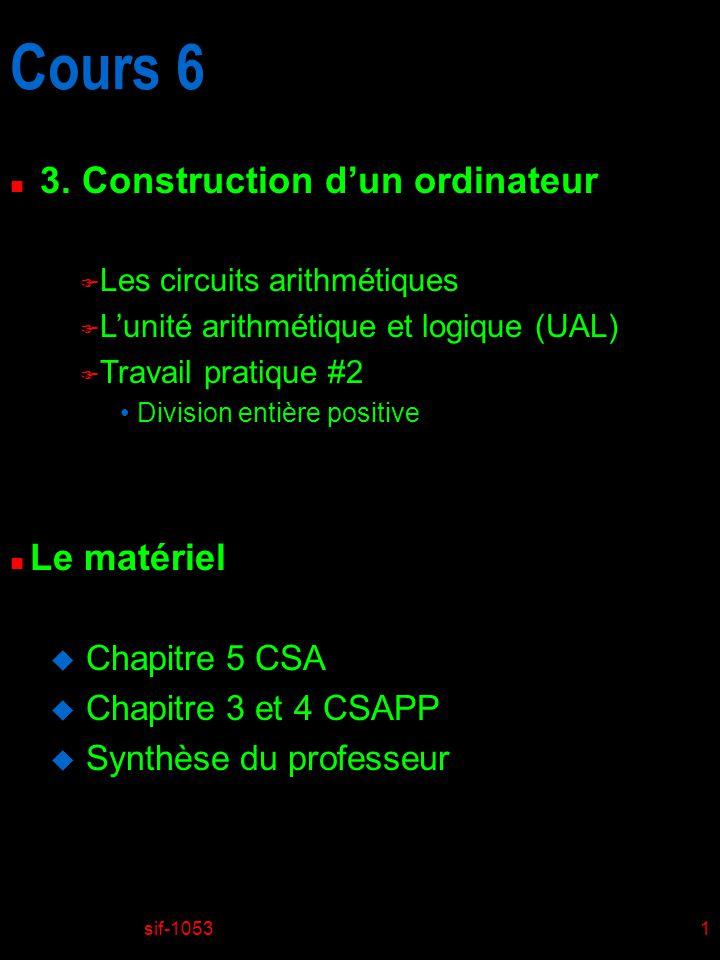 sif-105322 Les circuits de multiplication c * a = 45 * 57= 2565 2565
