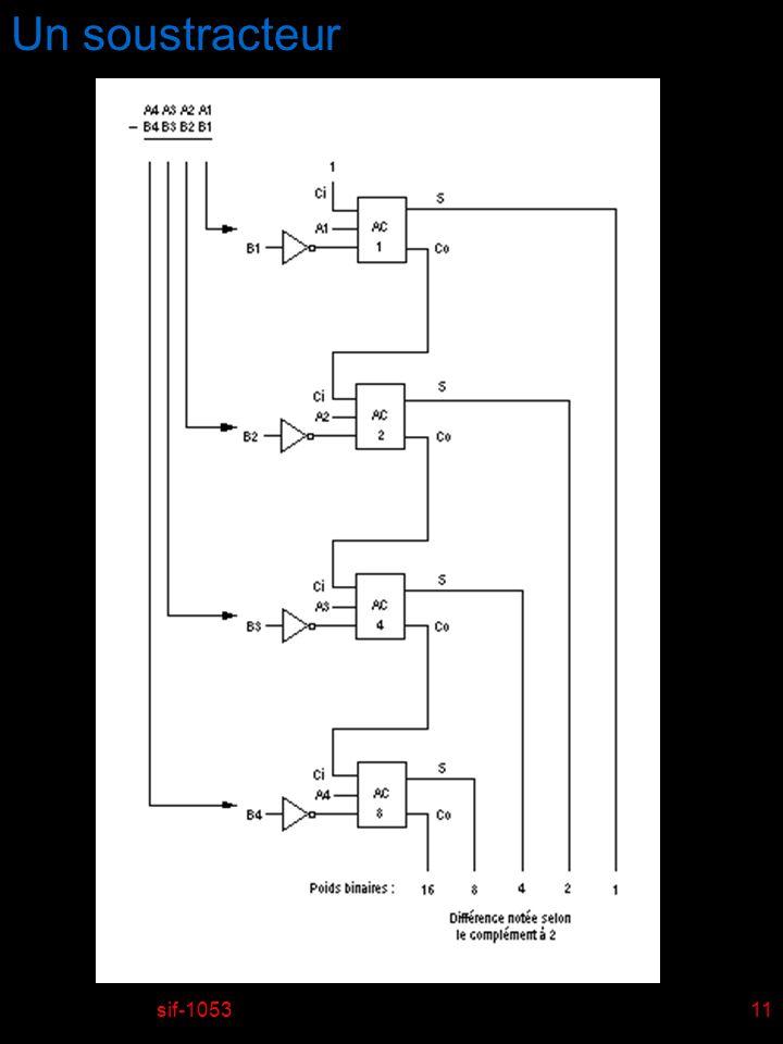 sif-105311 Un soustracteur