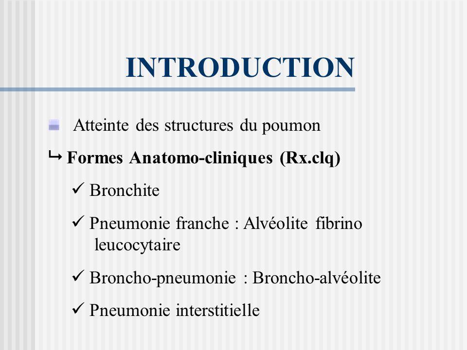 B.Bronchopathie – pneumonie.