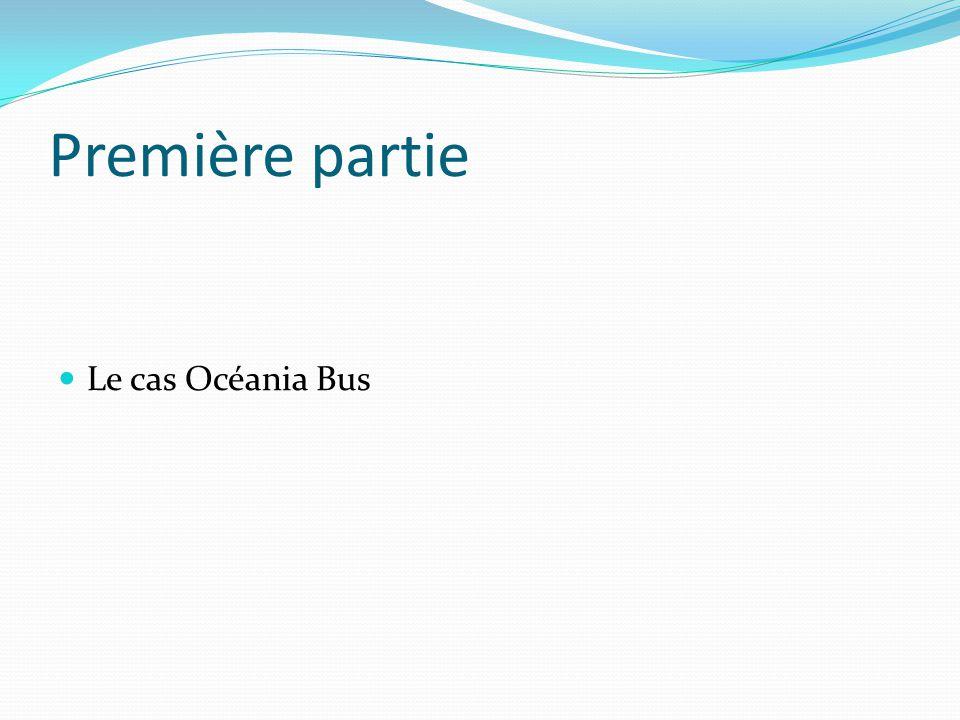 Première partie Le cas Océania Bus