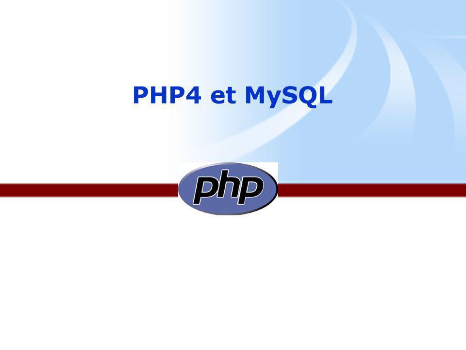 PARTIE 1 : PHP La programmation en PHP.