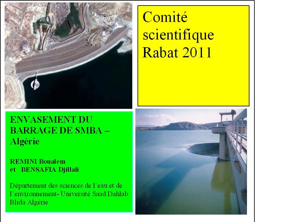 Barrage SMBA 98% des sédiments érodés par les bassins versants sont piégés par les barrages du Maghreb